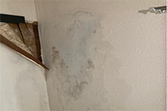 壁にヒビが入った