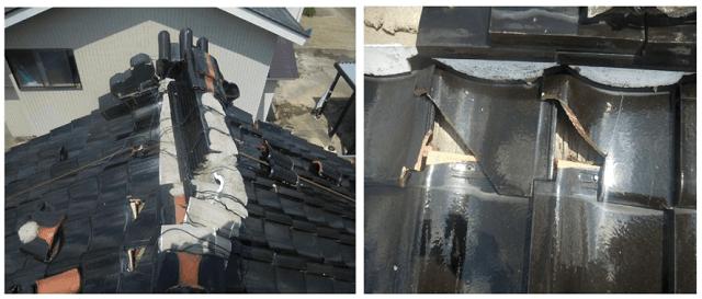 火災保険で瓦の修理05