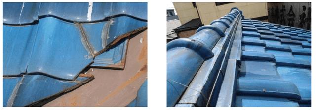 火災保険で瓦の修理04