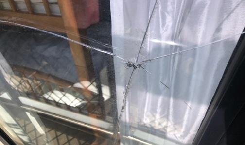 窓ガラスの被害