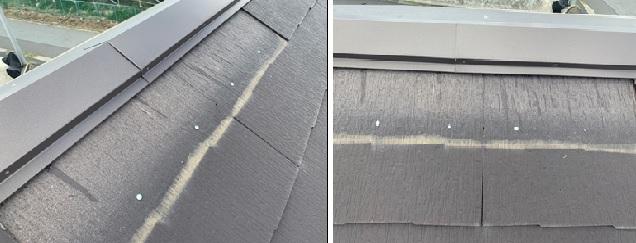 市原市スレート屋根の剥がれ